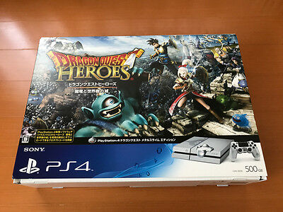 Sony PlayStation 4 Console Dragon Quest Metal Slime Edition 500GB Used Rare