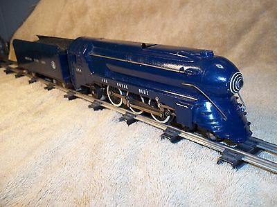 AMERICAN FLYER Royal Blue Set. 1948 Complete, Wire Handrails,C7 with all Boxes.