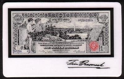 5m Tim Prusmack Design of 1896 USA $1. Currency: Educational Note Phone Card