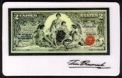 5m Tim Prusmack Design of 1896 USA $2. Currency: Educational Note Phone Card