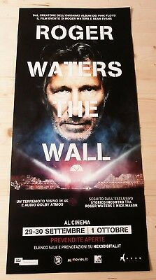 ROGER WATERS THE WALL Locandina Cinema 33x70 Poster Evento Original Pink Floyd