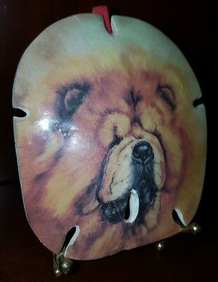 Sand Dollar with picture of Chow Chow (Stand included)