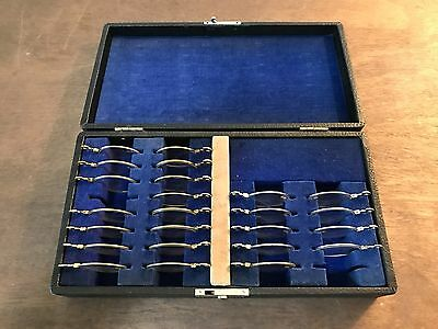 24 Piece Vintage UNIVIS Presbyopic Trial Lens Set and Case, Ophthalmology