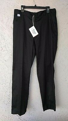 NWT HAPPY CHEF 36x32 Black Chef Pants Cotton Blend Style #250