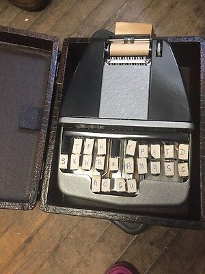 Stenography Vintage Court Reporting Machine With Case Short Hand by Stenotype