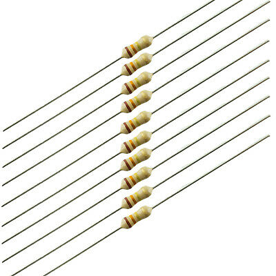 1.1K Ohm 1//4 Watt 5/% Carbon Film Resistor 100 Piece Lot 291-1.1K-RC