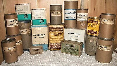 Vintage Drug Store Penicks Rape Seed Star Anise Pow Gentian Root Dill Anise Koda