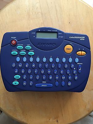 DYMO LabelMANAGER 100  LABEL PRINTER THERMAL PRINTER WORKING CONDITION