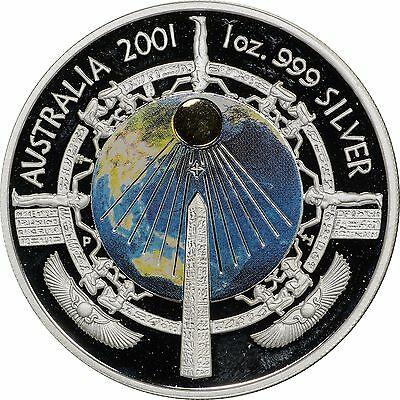 2001 Australia Proof Silver 1 oz Millennium Coin - In Original Capsule