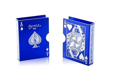 Metal Bicycle Playing Card Clip Deck Protector Case Trick Magic Predict - Blue