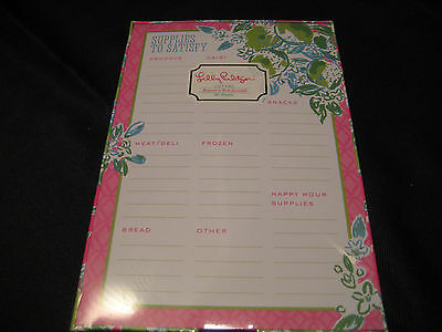 Lilly Pulitzer NEW Food Shopping List Pad Pink Lemonade 154018 Accesories