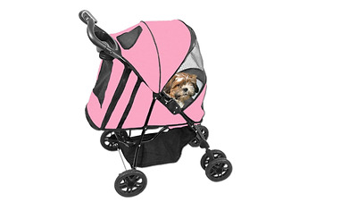 Pet Gear Happy Trails  Pet Stroller, Cat Dog Pram, Pink