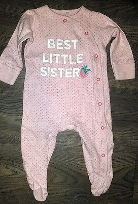 Girls Next Pink Sister Sleepsuit 3-6m Very Good Condition