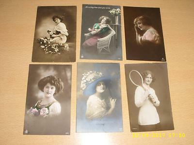 Vintage Collection  Glamour Ladies - Old  Postcards