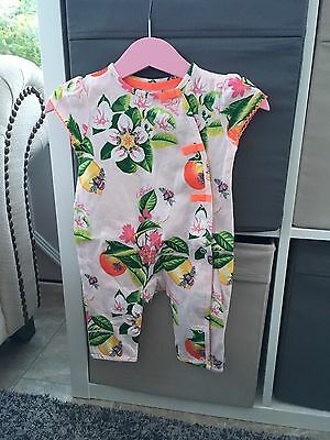 Stunning Floral Ted Baker Romper Suit / Baby Grow 0-3 Months Bnwot