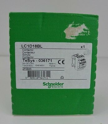 Factory Sealed Schneider Electric LC1D18BL Contactor