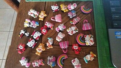 Croc Shoes CHARM PLUGS Huge Lot FIT Bracelet Belts , Hello Kitty, Care Bears, Sn