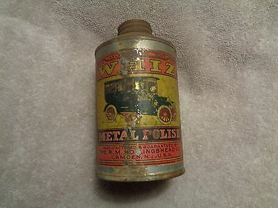 Whiz Metal Polish,R.M.Hollingshead Co.Camden,N.J.,Tin Litho Can,1900's