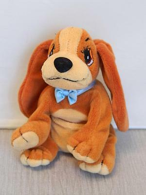 "Disney Lady and the Tramp - Lady Small Plush Beanie - 6"" Promotional item Buena"
