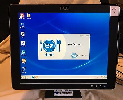 "FEC AM-1015 POS 15"" touch screen display w/stand and all cords Point of Sale #3"