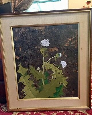 Antique Japanese Painting Or Possibly Woodblock Print Signed