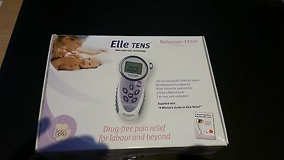 Elle TENS Babycare unit with unused Electrodes and Skin Prep Solution