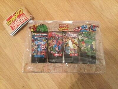 NEW Mens MARVEL COMICS 4 Piece Toiletries Set With Travel Bag FREE UK POSTAGE