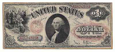 Series 1878 $1 UNITED STATES NOTE Red Seal Nice VF