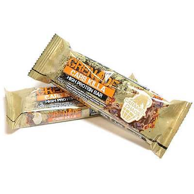 Grenade Carb Killa 60g Caramel Chaos Bars High Protein Low Carbs NON GMO Bar