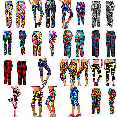 Womens Fitness Compression Leggings Yoga Pants Gym Sports Trousers Workout Wear