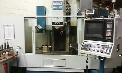 Toyoda FV-45 Vertical Machining Center with Rotary table 4 Axis  CNC Cat 40