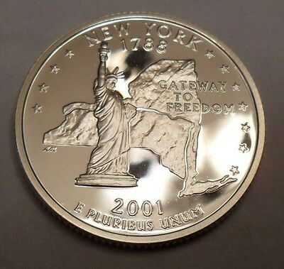 2001 S New York *90% Silver Proof*  State Quarter   **free Shipping**
