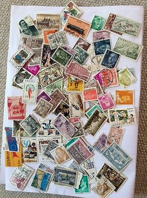 Spain collection of 100 stamps Lot A