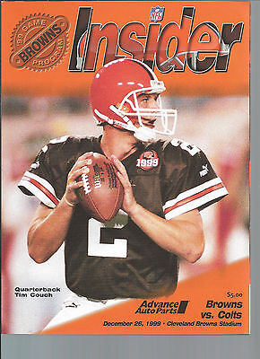 Tim Couch Cleveland Browns vs. Indianapolis Colts program 12/26/99
