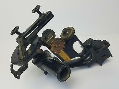 ANTIQUE 1800s BRASS SAUVEUR & BOYLSTON MICROSCOPE Metallurgic