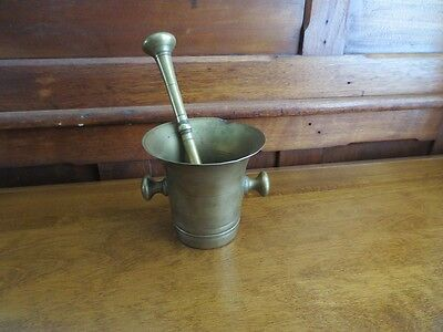 Mid 19th Century Brass Mortar And Pestle