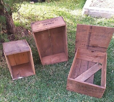 Rustic Wooden Pine Fruit Boxes