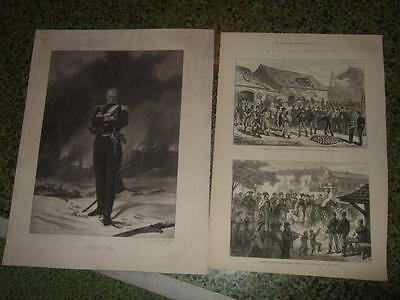 1849/77,3Engr.military Hungary,kossuth,hungarian Uprising 1848/9+Balkan War 1877