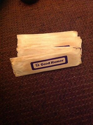 12 Vintage Wrapped Good Humor Wooden Spoons