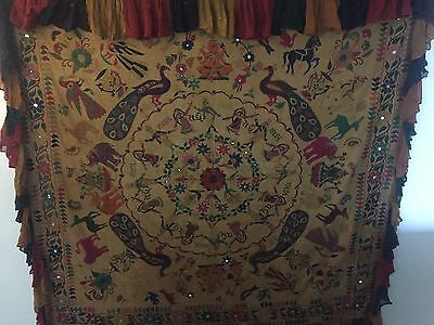 "Indian Embroidered Wedding Canopy Large  167"" squared"
