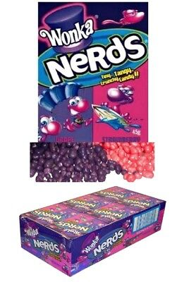 24 Packs x Wonka Nerds Lollies Strawberry Grape Party Favors Candy Buffet Lolly