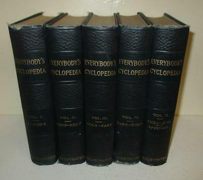 Complete 5 Volume Set: Everybody's Cyclopedia (1912; Syndicate Publishing Co)