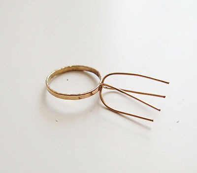 14k Gold Filled Claws Ring Blanks Bases Crafts Jewelry Supply
