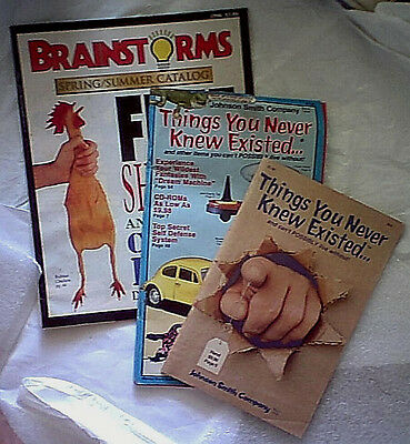 3 Vintage 90s Novelty Catalog Lot Johnson Smith Brainstorms gadget toy