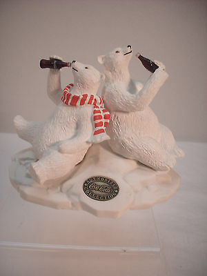 CoCa-Cola,  Heritage Collection 1996, Polar Bear and Friend figurine