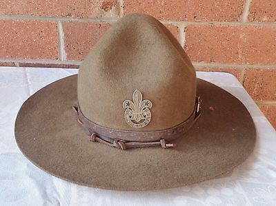 Vintage Boy Scouts Hat With  Badge #3