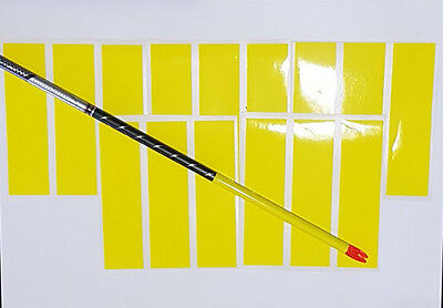 12 PLUS 3 FREE BRIGHT YELLOW 4 x 1 ARROW WRAPS