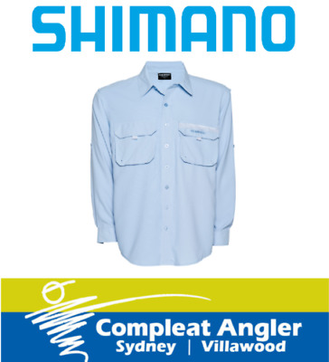 Shimano Vented Long Sleeve Blue XX-Large Shirt BRAND NEW At Compleat Angler