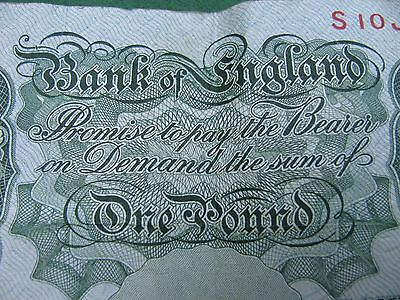 One Pound Note - Bank of England - L.K. O'Brien Chief Cashier