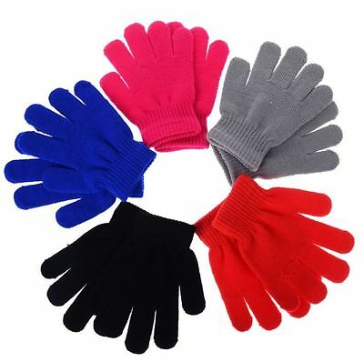 Children Gloves Girl Boy Kids Mitten Stretchy Knitted Winter Warm Knit Glove